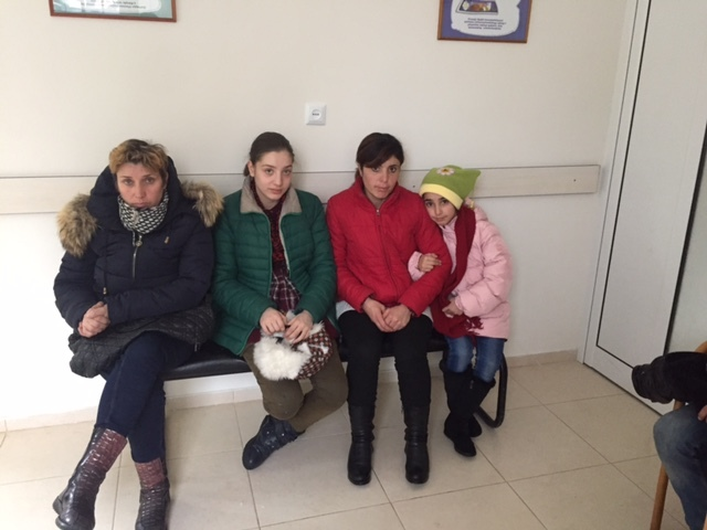 Families waiting to receive dental care