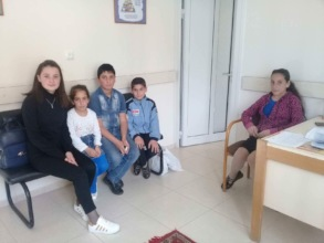 Families from Gyumri getting dental care