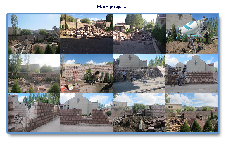 Initial phases of the dental clinic construction