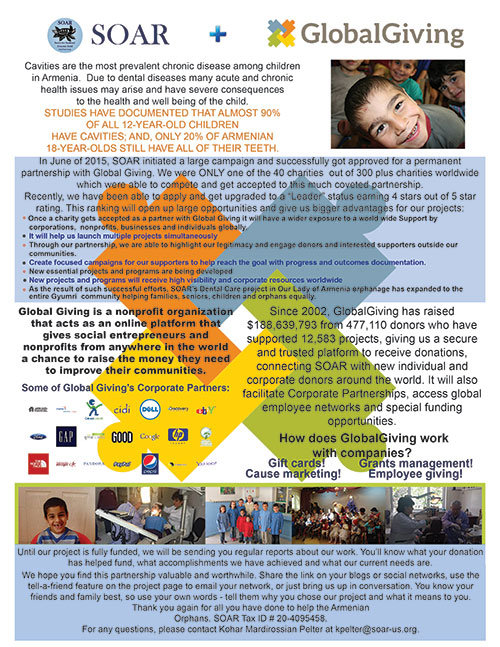 Global Giving Partnership Informational Flyer