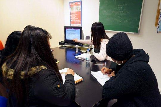 APRAMP social worker teaching survivors