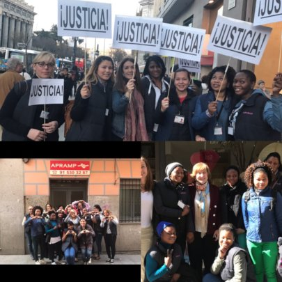 Survivors celebrating Women's Day and justice!