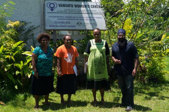Vanuatu Women's Centre- Lynrose, Margret, and Vola