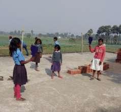 Punam playing in school