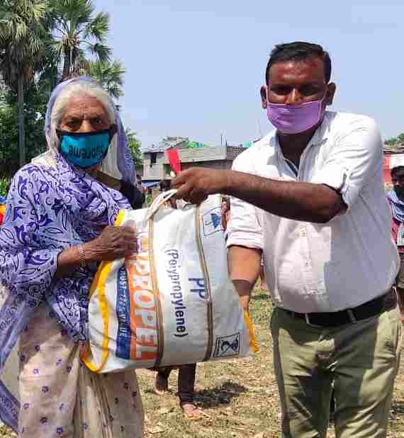 raw materials of food provided to family of child