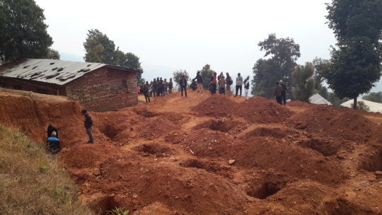 Construction site for new health post in Taple