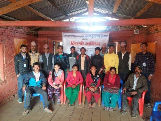 Mason training to build latrines in Nepal