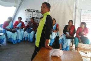 Shambu training community health volunteers