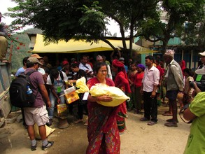 You're helping provide emergency food to families.
