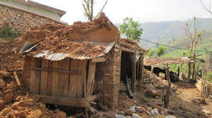Lok's destroyed home.