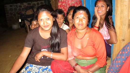 """Lok (right) and her daughter say """"thank you!"""""""