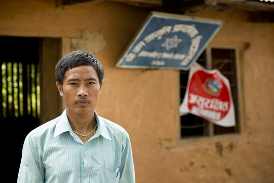 Uttam thanks you for helping him rebuild his home.