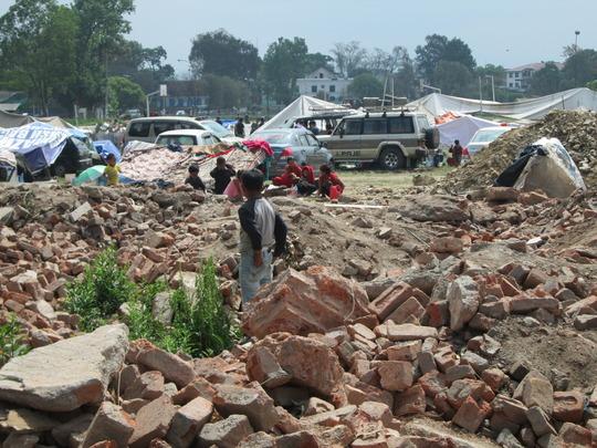 Destruction in Kathmandu