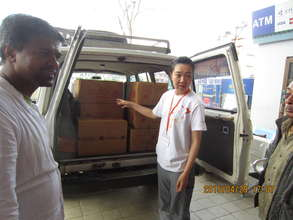 Coordinating delivery of relief goods in Kathmandu
