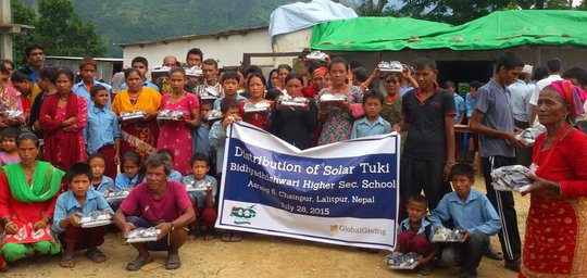 After solar lamp and solar panel distribution