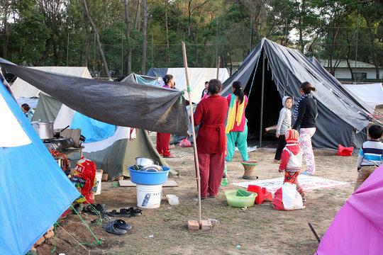 Sanitation condition at Refugee Camp