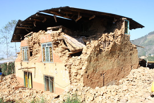 Damaged House due to earthquake