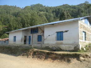 Damaged building of Jal Devi School in Hagam