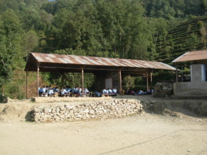 Jal Devi Secondary School, only the roof remains