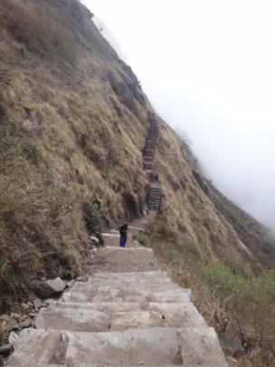 Trail on the ridge of Kashigaun village