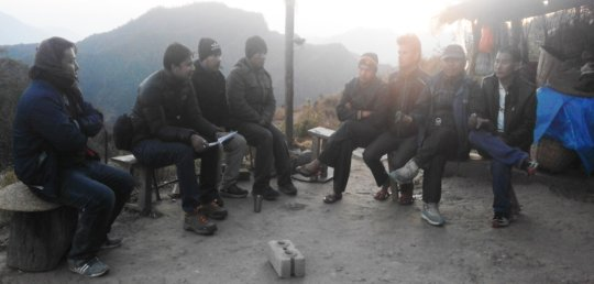 Meeting with locals and community representatives