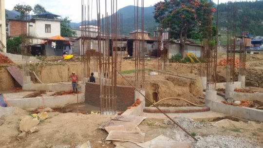 Work underway on the Dhading District Hospital