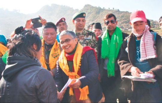 Nepal Minister of Livestock supports HHC program