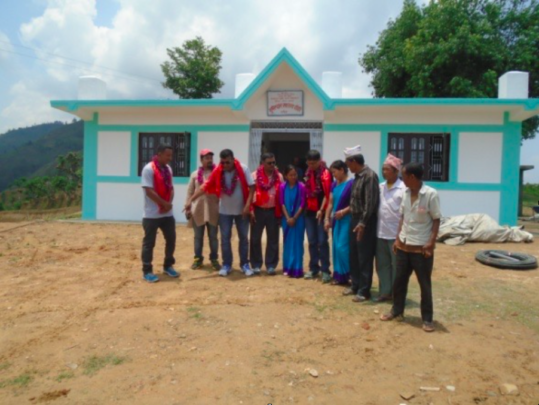 Handover of completed Bhumisthan health post