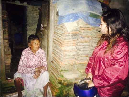 Assessing the needs of elderly earthquake victims