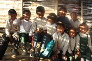 children from school built by Global Reach