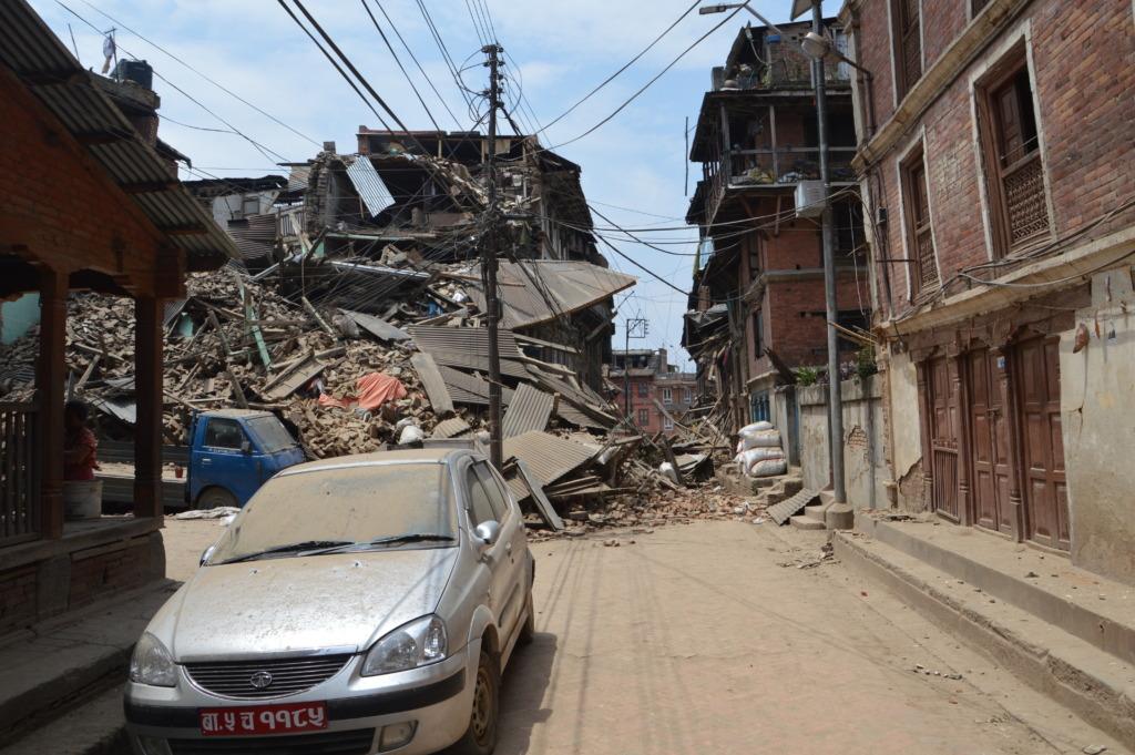 Devastation in Kathmandu