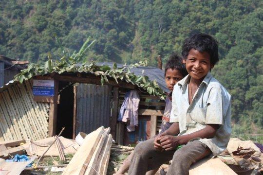 Tilganga-constructed Shelters