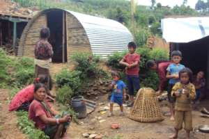 Temporary Shelter constructed by Tilganga