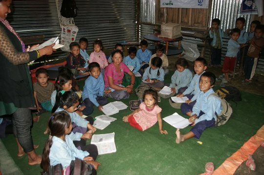 Pre-primary class, Gujarpa Lower Secondary School