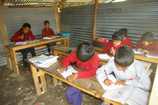 Pokhare Lower Secondary School temp classroom