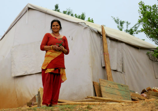 A widowed mother, Rita, in Kavre, Nepal.