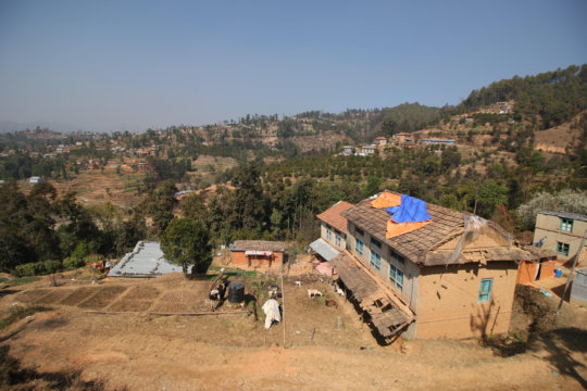 A view of Kavre, Nepal.