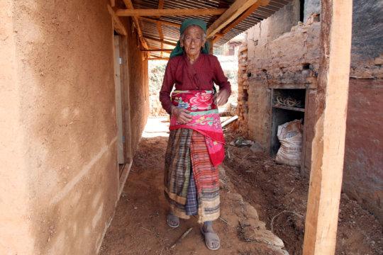 Bescu, 84, a recipient of a new BRAC home.