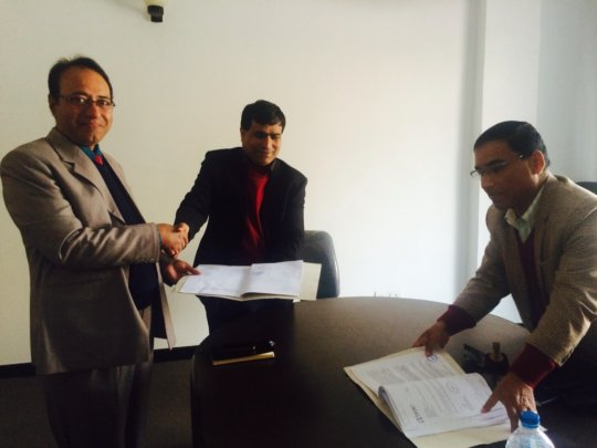 BRAC Nepal Country representative signs agreement