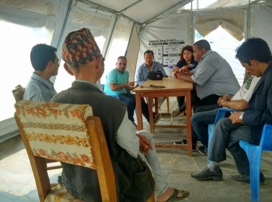 Meeting with District Health Committee of Dhading