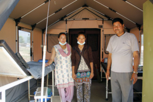 Skilled birth attendants in OHW birthing tent