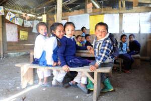 Girls at Ramailo Jyoti - Temp Learning Center