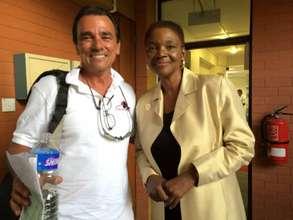 Valarie Amos, USG, UN OCHA & FRF Volunteer, Ted H.