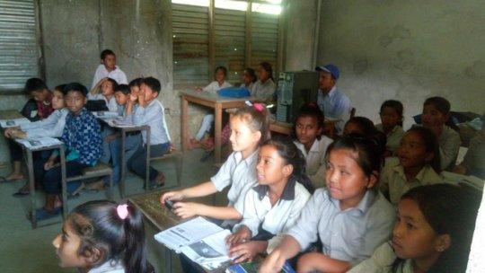 Teacher taking Class