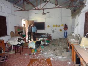 The school hall.
