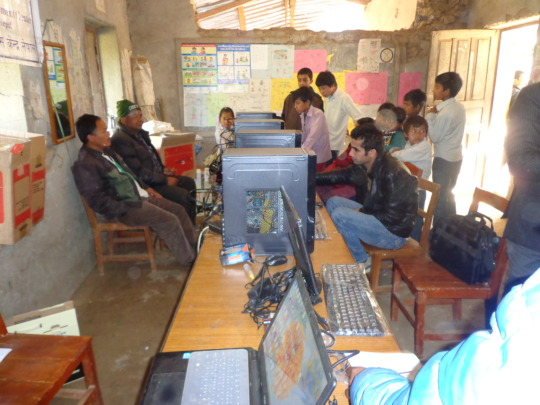 Computer lab of Kalyan Higher  Secondary School