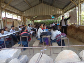 Teacher teaching Students