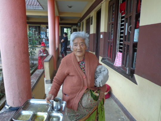 An old woman of the home