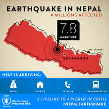 Food distribution to Nepal earthquake survivors