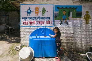 Even amidst disaster, kids still have clean water.